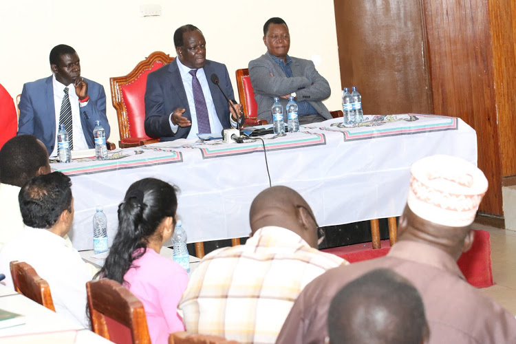 Kakamega Governor Wycliffe Oparanya has announced confirmation of a coronavirus case in the county.