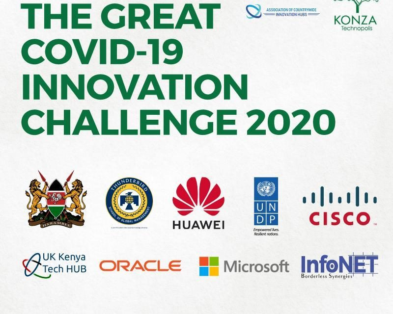 The government of Kenya through Konza Technopolis Development Authority (KoTDA), has partnered with the Association of Countrywide Innovation Hubs, private sector, academia, non-governmental organizations and the United Nations Development Program (UNDP), to launch the Great Covid-19 Innovation challenge.