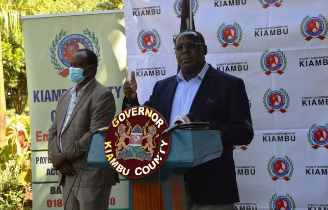 "Kiambu County government is expected to begin mass testing for Covid -19. Governor James Nyoro said the exercise will target entry points and hotpots within the county.""We will start the mass testing at Soko Mjinga, Lari and Bluepost in Thika, which are the major entry points,"" he said.He noted that 5,700 people have been screened for coronavirus at police roadblocks."