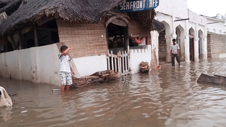 The streets of Lamu have been submerged for several days now due to high tides that have caused overflow from the Indian Ocean.