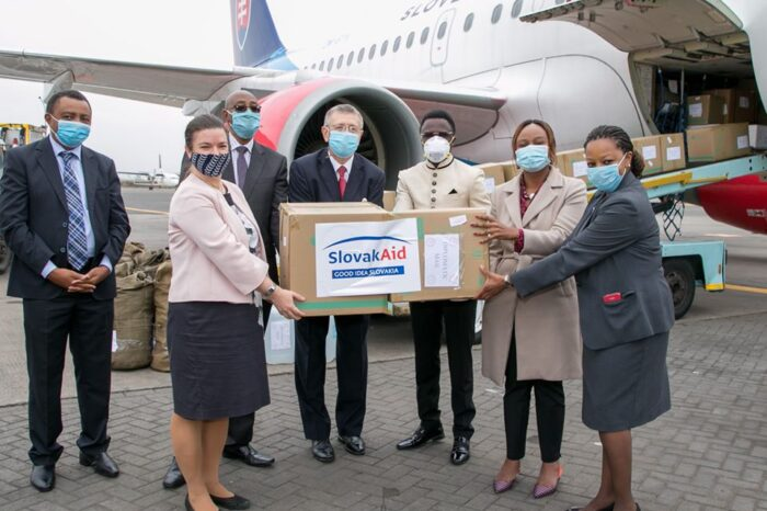 First Lady Margaret Kenyatta applauds Slovak Government for COVID-19 humanitarian aid
