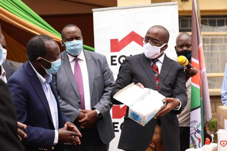 Vihiga county government to get a supply of Sh. 4.5million PPEs for six months in the fight against coronavirus pandemic from Equity bank foundation.